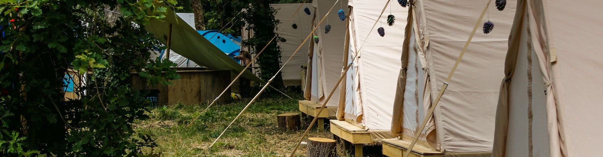 Confortable glamping tents Moliets surf camp Junior