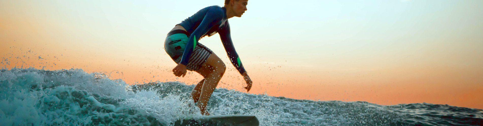 Junior Surfer lernen praxis