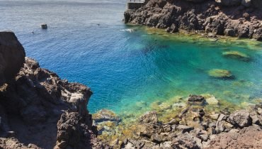 Bucht in Santorini