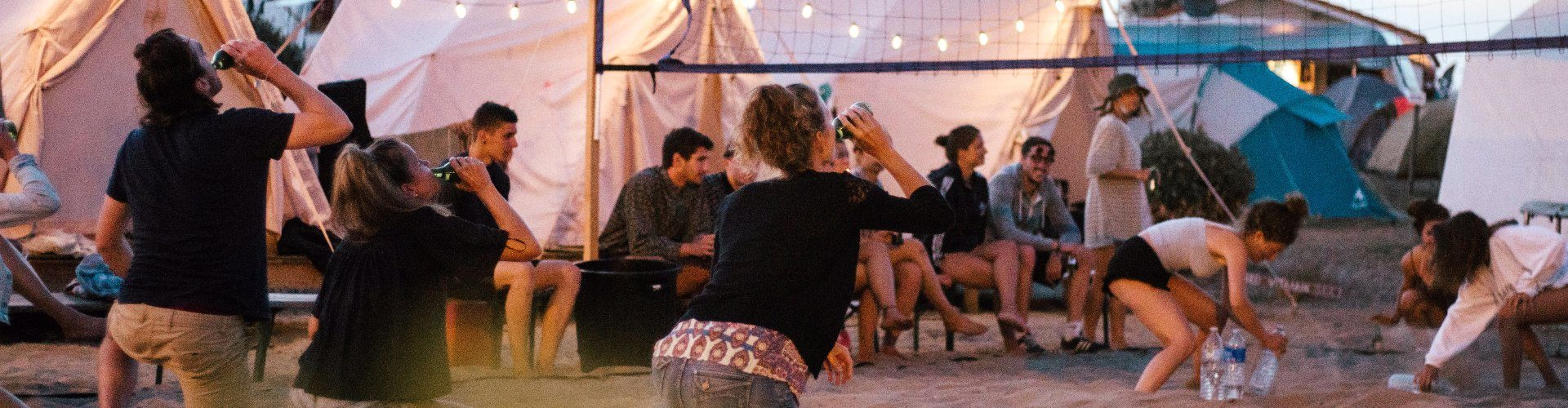 Glamping tents in Vieux Boucau surf camp