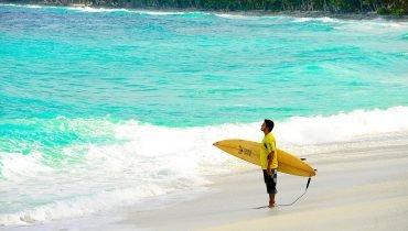 Surfen im Indischen Ozean