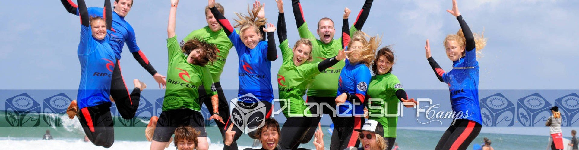 amazing people in the surfspot of France