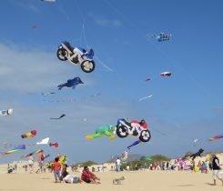 Jährliches Drachenflug-Festival