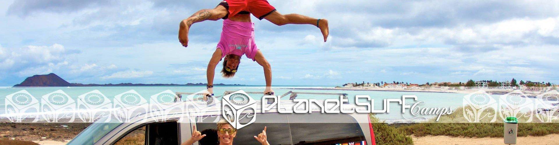 Planet Surf transport arrived at surf spot in Fuerteventura
