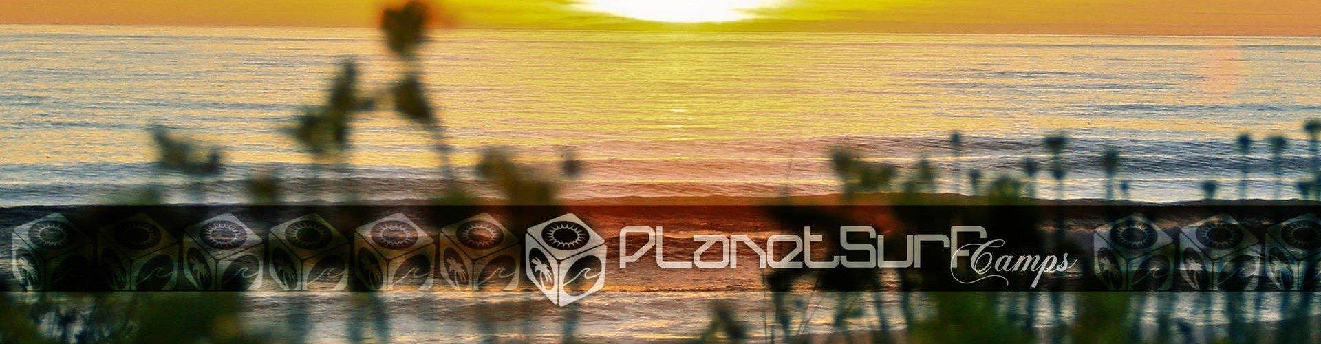 Sunset from surf spot natural enviroment